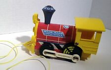 """VINTAGE 1964 FISHER PRICE - """"TOOT-TOOT"""" TRAIN PULL-TOY  #643"""