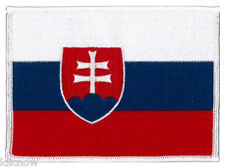 "Slovakia (embroidered) Country Flag Patch 12CM X 19CM (4 3/4"" X 3 1/2"") approx"