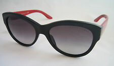 RALPH LAUREN CAT EYE LADIES SUNGLASSES RL 8089 5001/8G BLACK RED BNWT GENUINE