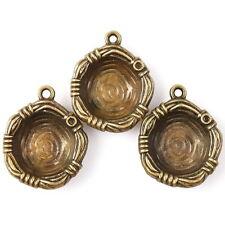 15x 145026 New Arrive Vintage Bronze Tone Charms Mini Nest Alloy Pendant Fit DIY