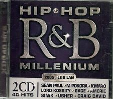 2 CDS COMPIL 40 TITRES--HIP HOP / R&B MILLENIUM 2005--PAUL/POKORA/K'MARO/GAGE