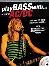 Play Bass with the Best of AC DC Sheet Music Book and CD NEW 014037641