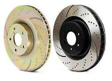 Performance Plus Brake GD7081 Pair Rear Disc Brake Rotors Slotted/Dimpled Silver