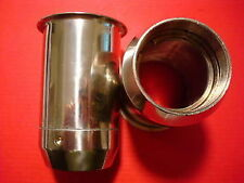 TRIUMPH BSA T100 T120 T150 FORK OIL SEAL HOLDERS STAINLESS STEEL 97-3633