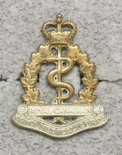 Canadian Army Badge:  Royal Canadian Medical Corps, collar - Scully bi-metal