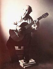 ANDRES SEGOVIA virtuoso Spanish classical guitarist B&W clippings
