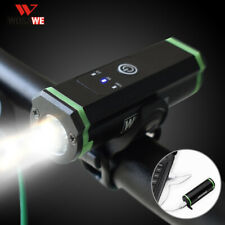 WOSAWE Bike Headlight USB Rechargeable Bicycle Front Flashlight Bike Accessories