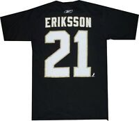 Dallas Stars Loui Eriksson Name and Number Black Reebok T Shirt new tags