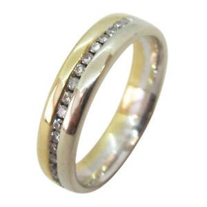 18ct Yellow Gold 0.25ct Round Channel-Set Diamond Eternity Ring Wedding Band