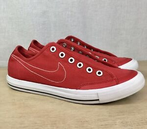 Nike Go Canvas Spirit Red Shoes Skate Sneakers 437530 600 Size 8