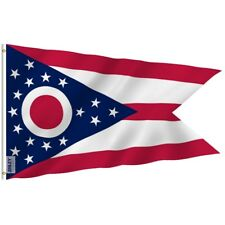 Anley Fly Breeze 3x5 Foot Ohio State Polyester Flag Ohio OH State Flags