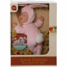 More details for anne geddes 'baby bunny' filled soft doll pink - new in box