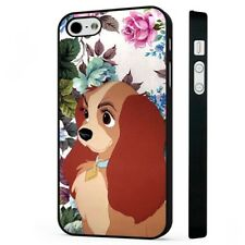 Lady And The Tramp Disney Dog BLACK PHONE CASE COVER fits iPHONE