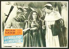 CINEMA-fotobusta IL CAVALIERE DEL MISTERO ladd,medina,cushing,morell,GARNETT