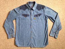 "G-Star Raw 'Cowboy Borg ""Slim Western Denim Shirt à Manches Longues Taille XL très bon état"