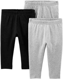 Simple Joys by Carter's Baby Girls' Toddler 3-Pack, Black/Gray, Size 0.0 GhT2