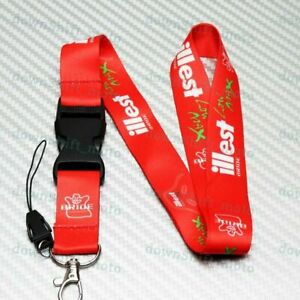 Car Neck Strap Lanyard Keyring Key Chain Cellphone for JDM ILLEST Racing Red