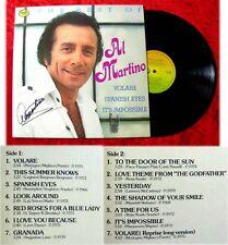 LP Al Martino: Best Of.... (mit Original Autogramm)