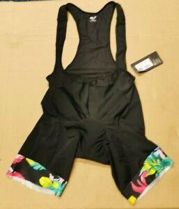 Ale Tropika Solid Women's Cycling Bibshorts, Black, 3XL. L20189473-07