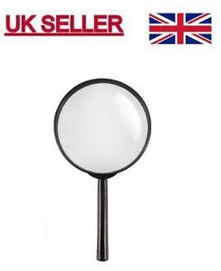 Large Handheld Magnifying Glass 90 mm Jumbo Powerful Reading Map Travel UK.