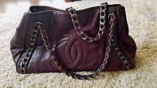 AUTHENTIC CHANEL BROWN XL MODERN CHAIN GRAND E/W BAG~COMPLETE SET~BERGDORF TAG