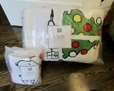 Pottery Barn Teen Peanuts® Holiday Twin Quilt & Standard Sham NEW Snoopy
