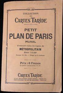 CARTES TARIDE PETIT PLAN DE PARIS MURAL
