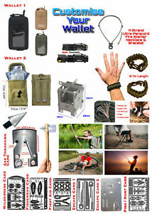 Tactical Mole Belt Pouch Wallet With Survival Multitools Hunting Fishing Hiking