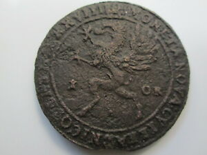 Sweden medieval copper coin, Gustav II Adolf 1 öre, 1628 Nyköping