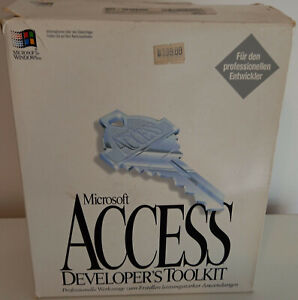 RARITÄT !! - Microsoft Access Developer's Toolkit 2.00 - Deutsch - Disketten