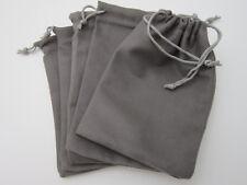 "5PCS MicroSuede Drawstring Pouch Jewelry Gift Storage Bag 4.25""x6.25"""
