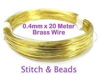 Brass Gold Jewellery Beading Wire 0.4mm x 20 Meter 20 Gauge Metal Craft Finding