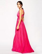 New Forever Unique Ashlyne Fuschia pink full length dress Size UK8 RRP £192