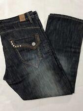 Sz 36x32 JORDAN CRAIG Men's Straight Fit, Dark Wash Denim, Jeans, Pants (38x30)