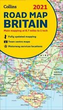 GB Map of Britain 2021 Folded Road Map by Collins Maps 9780008374402 | Brand New