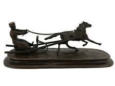 Russian Bronze - Man in Sleigh pulled by Horse - Signed