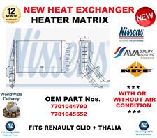 Pour 7701044790 7701045552 échangeur de chaleur chauffage matrix pour Renault Clio + THALIA