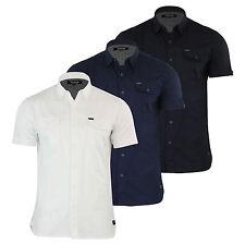 Mens Shirt Firetrap Gardar Cotton Short Sleeve Casual Top