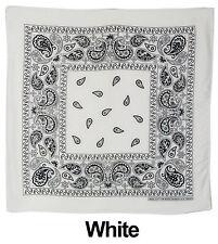 Lot Of 12 Paisley Print Scarf Bandana 100% Cotton 1 Dozen Multi Colors 22 x 22