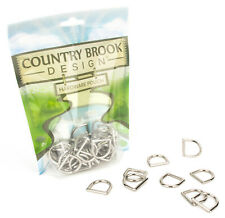 10 - Country Brook Design®3/4 Inch Die Cast Square Bottom D-Rings