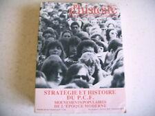 CAHIERS D' HISTOIRE INSTITUT RECHERCHES MARXISTES stratégie histoire PCF 1981