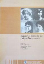 Scrittrici italiane del primo novecento. Un'iniziativa del Comitato provinciale