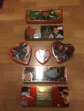 Russell Stover ELVIS PRESLEY Candy Tins Valentine Christmas Boxes Filled Sealed