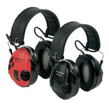 3 m PELTOR Electronic Ear DEFENDERS SportTac noir/rouge