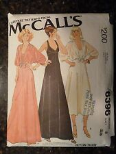 McCalls 6396 Carefree 1978 Pattern Slip Dress and Cover Up size 8 Cut