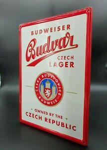 Budweiser Bier Blechschild Werbung Bar