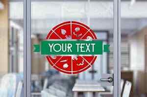 Custom Restaurant Pizza Pizzeria Shop Sign Text Wall Window Decal Sticker Art
