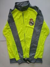 NWT Mens S Realmadrid Official Product Gray & Bright Yellow Zip Soccer Jacket