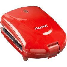 Bestron Kompakter Sandwichmaker 3-in-1 ADM2003R, rot