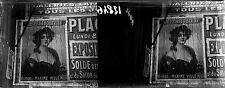 Murs PARIS c. 1910-20 - Stéréo Verre Affiche Le Petit Journal - 12846